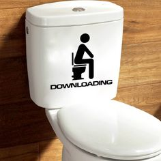 Creative DIY Funny Top Design Toilet Door Sign Sticker 1007