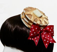Sweet Honey Syrup Pancakes and Butter Gothic and Lolita Barrette - 3 Syrup Flavor Options - Made to Order Ribbon Headbands, Ribbon Bows, Ribbon Hair, Funky Hats, Gothic Hairstyles, Honey Syrup, Lolita Cosplay, Lolita Fashion, Ideas