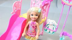 disney barbie chelsea doll swing set play doh toy surprise eggs - song for happy new year
