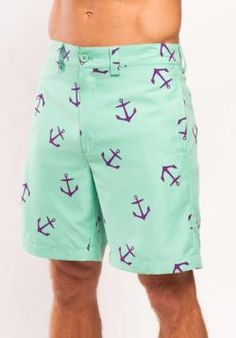 """Liquid Flow Clothing shorts (with waterproof pocket!) """"Cape Cod"""" anchor $68"""