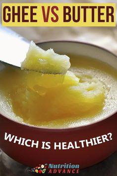 Ghee vs. Butter: Which is the Healthier Choice? Ghee and butter are both traditional dairy fats and they are extremely popular right now, especially on diets like paleo, low carb and keto. But what are the differences in regard to nutrition and health? And which one is the healthier option? via @nutradvance