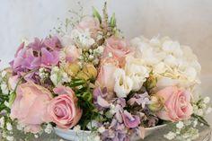 Wedding flowers rose white pink  Vintage Blumen Hochzeit