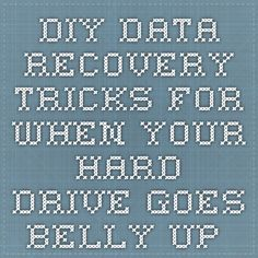 DIY Data Recovery Tricks for When Your Hard Drive Goes Belly Up - StumbleUpon (maybe I should send this to the IRS).