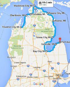 Lake Michigan Circle Tour Great Info On This Web Site Fun - Lake michigan circle tour map