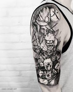Tatuagem criada pelo tatuador Caio Cesar (caiocesar_art) de São Paulo, SP. Clique para conhecer mais sobre esse artista e conferir mais artes dele no Tattoo2me. #tattoo #tatuagem #arte #art #sketch #geek Forest Tattoo Sleeve, Forest Tattoos, Tattoo Sleeve Designs, Tattoo Designs Men, Sleeve Tattoos, Cute Tattoos, Small Tattoos, Tatoos, Tatoo Books
