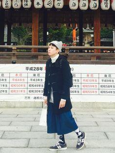 Wei Wei Boyさんの(MUJI Labo)を使ったコーディネート