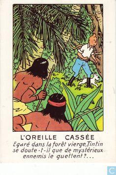 Carte postale - Tintin - L'orielle cassee