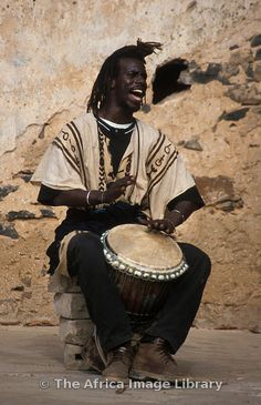 Djembe drummer from Goree island, Senegal. Photo by Ariadne Van Zandbergen