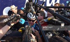 Lance Armstrong faces the press during stage thirteen of the One Day Ahead - Le Tour 2015 on July 16, 2015 in Rodez, France. #TdF1DayAhead #rm_112