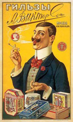 Rusia | Tabaco vintage advertisement