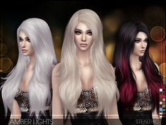 Stealthic: Beutiful hairstyle – Amber Lights • Sims 4 Hairs
