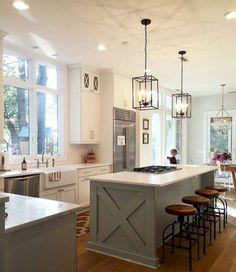 23 Gorgeous Modern Farmhouse Kitchen Cabinets Decor Ideas