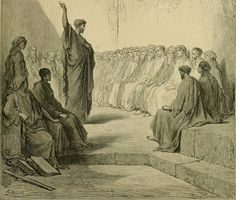 Phillip Medhurst presents William A. Foster's Bible Panorama 140/140 : PAUL PREACHES TO THE JEWS OF ROME. Acts xxviii 17. After Gustave Doré.