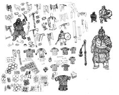 Dwarven Weapons and Armor by Artigas on DeviantArt