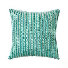 Make a bold statement of colour with the Santona Ribbed Menthol cushion from Home Republic.