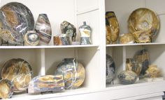 Stoneware from the Appalachian Rock Shop in Harmony would make a great gift for your hostess.