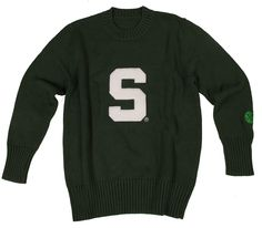 Men's MSU crew neck sweater at almamaterwear.com