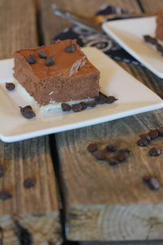 No bake chocolate cheesecake squares are simple and delicious and great for feeding a crowd.