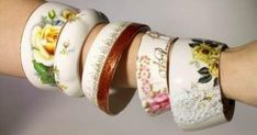 Here is another great ideas to recycle and repurpose some of your old and not inuse porcelain tea cups and saucers set. image credit...