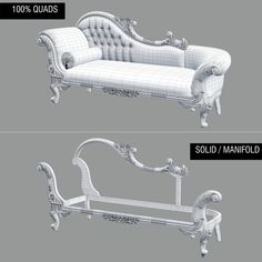 F&B Wedding Chaise Longue_A (Queen Anne's Revenge Chaise) Model available on Turbo Squid, the world's leading provider of digital models for visualization, films, television, and games. Royal Furniture, Luxury Home Furniture, Home Decor Furniture, Furniture Design, Wooden Sofa Designs, Unique Sofas, Living Room Sofa Design, King Bedroom Sets, Sofa Frame