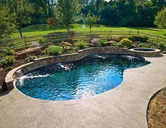 Having a pool sounds awesome especially if you are working with the best backyard pool landscaping ideas there is. How you design a proper backyard with a pool matters. Backyard Pool Landscaping, Backyard Pool Designs, Small Backyard Pools, Swimming Pools Backyard, Backyard Retreat, Swimming Pool Designs, Pool Spa, Outdoor Pool, Landscaping Ideas