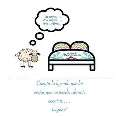 """Tienes problemas para conciliar el sueño? En Sokios seguimos """"la teoría de las ovejitas"""", si no hay sueño a contar cojines! Y si son de la colección Dream , abrazaras a Morfeo en menos de lo que canta un gallo Ya estamos a viernes! Yuju!!!! #sokios #dulcessueños #decoration #sweetdreams #textil #disign #home #homestyle #ropadecama #ropadehogar"""