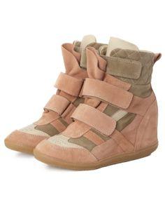Isabel Marant sneakers coins de pêches Prune
