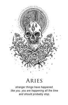 'Aries - Shitty Horoscopes Book IX: The Body and The Wreckage' by musterni Aries Art, Zodiac Art, Astrology Zodiac, Astrology Signs, Zodiac Signs, Dark Astrology, Aries Sign, Astrology Chart, Taurus