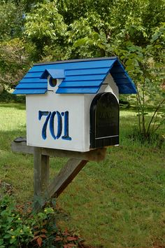 Mailbox Birdhouse by Brandon & Christy Martin...Jumbo Box with Solar Lights