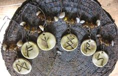 Rune charms to put on spell bottles or other important vessels.
