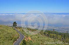 The sea of clouds above Puerto de la Cruz on Tenerife, Canary Islands