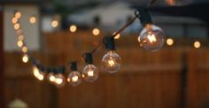 Outdoor Room Ambience: Globe String Lights!