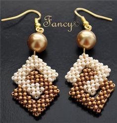 pretty cubic raw earrings