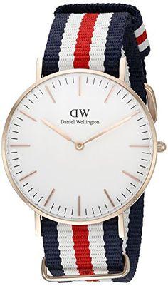 Daniel Wellington Damen-Armbanduhr Canterbury Analog Quarz Nylon 0502DW - http://uhr.haus/daniel-wellington/blanco-daniel-wellington-uhr-classic-canterbury