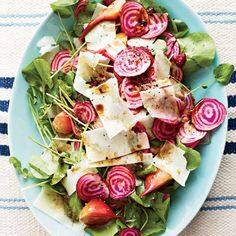 Beet Salad with Watercress and Fresh Pecorino