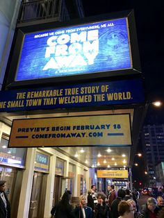 Why Come From Away had me crying and laughing the whole time! Come From Away, Find People, Musical Theatre, Small Towns, True Stories, Laughing, Crying, Theater, Musicals