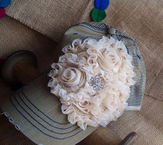 Khaki and Cream Distressed Trucker Hat with Bling on Etsy, $38.00