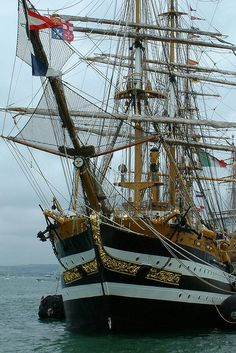The 'tall ship' Amerigo Vespucci, seen at the International Festival of the Sea 2005, Portsmouth Historic Dockyard, England.