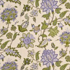 G P & J Baker BAKER'S INDIENNE SPRING/MAUVE Fabric