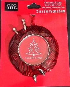 "STUDIO DECOR Ornament Frame - KNITTING YARN & NEEDLES - 2"" X 2"" Frame"