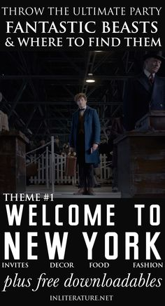 Throw the ultimate Fantastic Beasts and Where To Find Them party with these tips and themes we've drawn up! We cover ideas for invites, decor, the menu, even costumes, to give you a kickstart. Even better? We've made and attached free downloadables, making your life easier! http://foodinliterature.com/parties-2/2016/10/welcome-new-york-theme-throw-fantastic-beasts-find-party.html