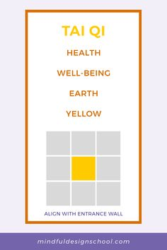 Feeling ungrounded? Want to improve your health? You may want to adjust the Tai Qi, or health area, of the bagua map. Download our free bagua kit to find this area of your home and learn how to activate it. Feng Shui Energy Map, School Design, Simple Way, Bar Chart, Improve Yourself, Mindfulness, Kit, Teaching, Feelings