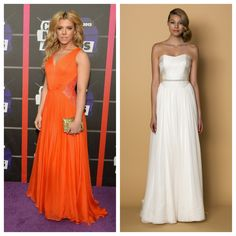 """Get Kimberly Perry's #cmtawards floaty chiffon look with our @alynbridal """"Martina"""" gown xo"""