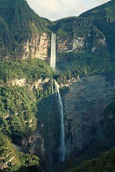 It's a beautiful world Catarata del Gocta en Chachapoyas / Peru (by jian ping yan).