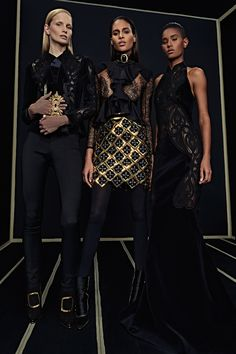 Ready-To-Wear Collection via Designer Olivier Rousteing   Modeled by ?, Cindy Bruna, Ysaunny Brito   January 25, 2016; New York