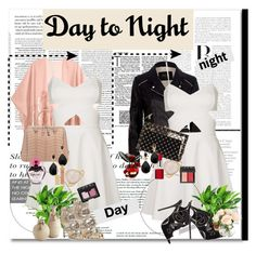 """""""DaytoNight <3"""" by advent68 ❤ liked on Polyvore featuring H&M, Topshop, River Island, PLANT, Jimmy Choo, Valentino, Charlotte Olympia, Kenneth Jay Lane, Bling Jewelry and AERIN"""