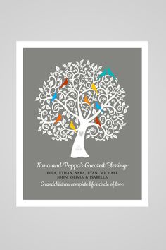 Hey, I found this really awesome Etsy listing at https://www.etsy.com/listing/256440491/nana-and-poppa-family-tree-gift-for-nana