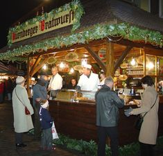 Christkindlmarkt, Nuremberg, Germany.  Bratwurst.  Pinned by www.mygrowingtraditions.com