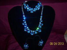 Stunning Blue Tones Regency Parure by CalicoCandys on Etsy, $245.00