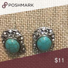Turquoise Silver Earrings Turquoise Silver Earrings Jewelry Earrings